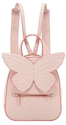 Sophia Webster Kiko Leather Butterfly Backpack, Pink