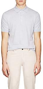 John Smedley Men's Knit Cotton Polo Shirt - Light Gray