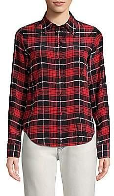 Marc Jacobs Women's Silk Plaid Shirt