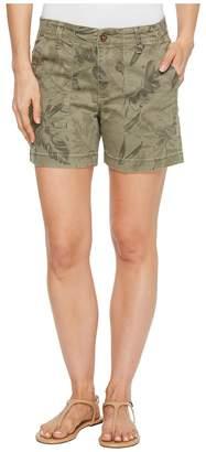 Tribal Printed Stretch Twill 5 Shorts w/ Patch Pocket Women's Shorts