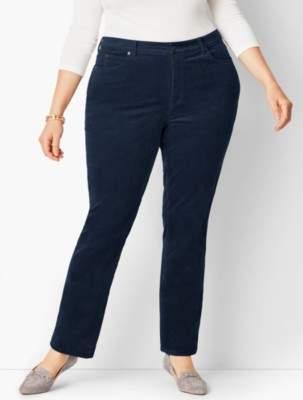 Talbots High-Rise Straight-Leg Pant - Curvy Fit/Cord