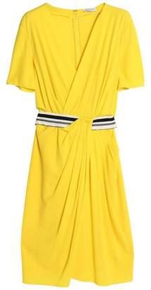 Vionnet Wrap-Effect Asymmetric Draped Crepe Dress