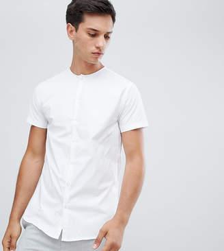 Noak skinny collarless shirt