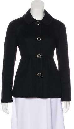 DKNY Cropped Wool Coat