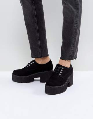 Asos DESIGN MEGA Chunky Lace Up Heels