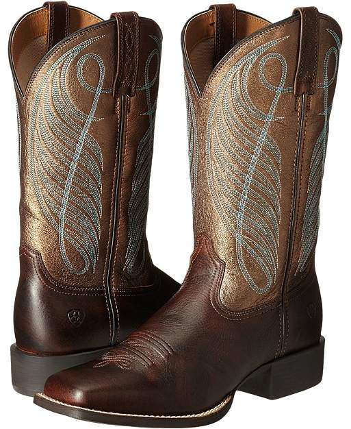 Ariat Round Up Square Toe Cowboy Boots
