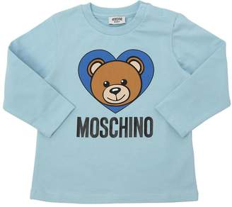 Moschino Toy Logo Printed Cotton Jersey T-Shirt