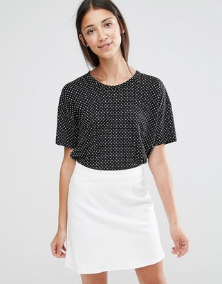French Connection T-Shirt in Polka Dot Print $37 thestylecure.com