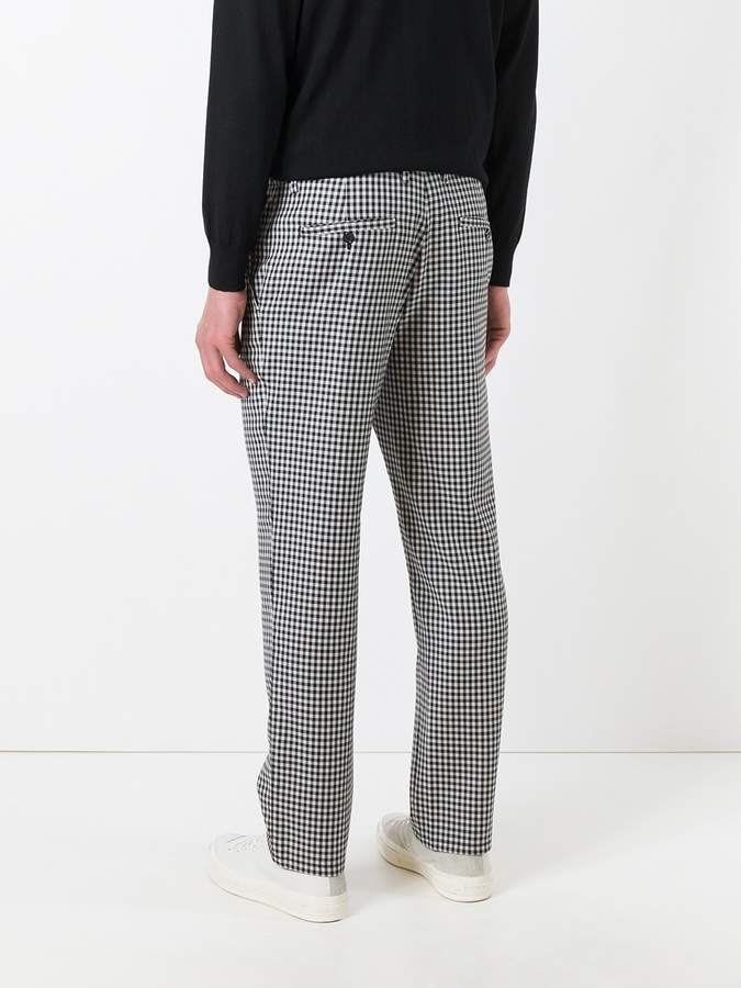 Golden Goose Deluxe Brand gingham check trousers