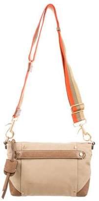 Ghurka Leather-Trimmed Canvas Bag