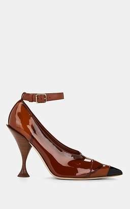 Burberry Women's 105 PVC Ankle-Strap Pumps - Brown