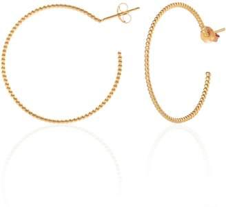 Sharon Mills London - Bijou Oversize Hoops Gold