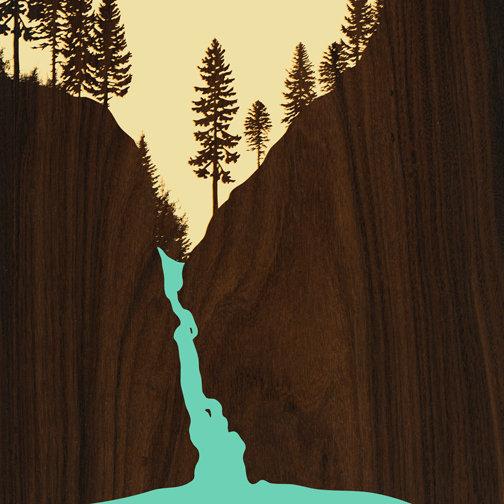 JefDesigns - Waterfall Twister Falls Print