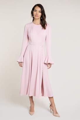 Beulah London Yahvi Pink Midi Dress
