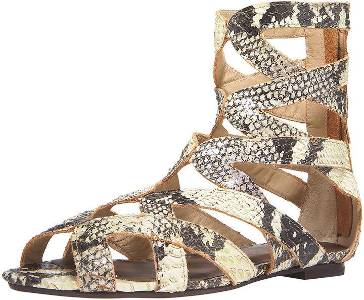 Joie Barracuda Snake-Embossed Sandal