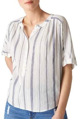Whistles Paula Striped Shirt