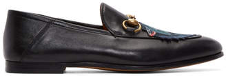 Gucci Black Wolf Brixton Loafers