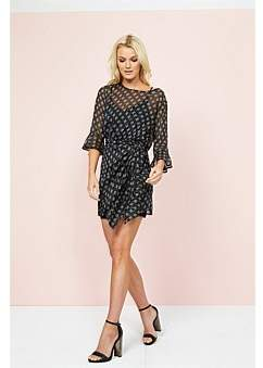 MinkPink Isabel Tie Front Dress