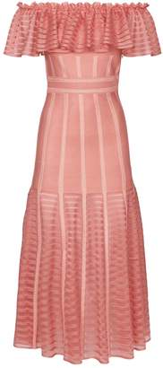 Alexander McQueen Ruffle Maxi Dress