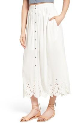 Women's Astr The Label Maxi Skirt $85 thestylecure.com