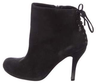 Barneys New York Barney's New York Suede Lace-Up Booties