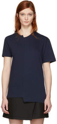 Cédric Charlier Navy Fruit of the Loom Edition Asymmetric T-Shirt