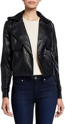 Bagatelle Faux-Leather Cropped Jacket