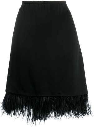 Semi-Couture Semicouture A-line skirt with feathers
