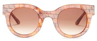 THIERRY LASRY Women's Celebrity Round Acetate Frame Sunglasses $400 thestylecure.com