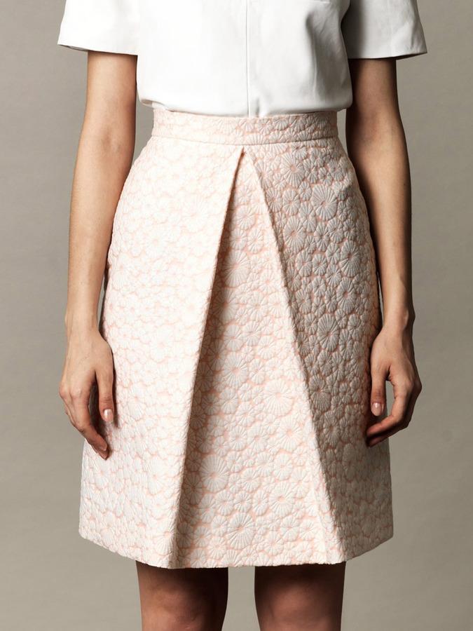 Osman Floral jacquard skirt