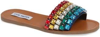 Steve Madden Serenade Crystal Embellished Slide Sandal