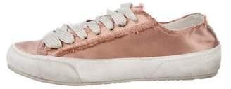 Pedro Garcia Satin Low-Top Sneakers