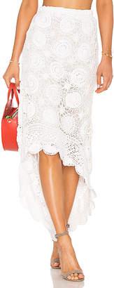 Mes Demoiselles Sookie Crochet Hi Low Skirt