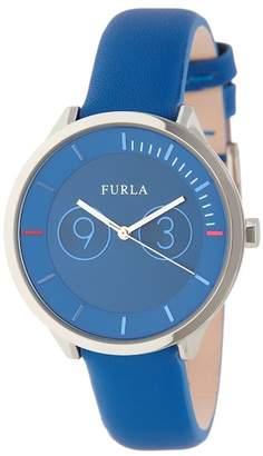 Furla Women's Metropolis Leather Strap Watch, 38mm