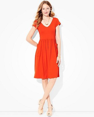 Women Double V Jersey Dress $98 thestylecure.com