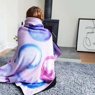 Rianna Phillips Watercolour Dots Personalised Blanket Throw