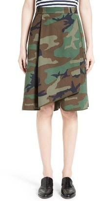 Women's Harvey Faircloth Camouflage Print Asymmetrical Skirt $350 thestylecure.com