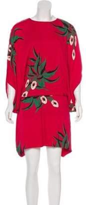 Marni Floral Mini Dress Floral Mini Dress