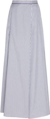 Thierry Colson Silvana Cricket Stripe Cotton Silk Blend Skirt