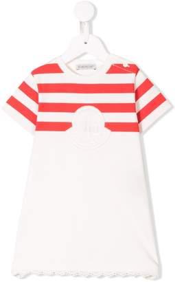Moncler logo embroidered T-shirt dress
