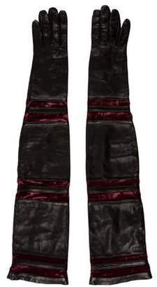 Salvatore Ferragamo Leather Elbow-Length Gloves