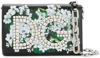 Dolce & Gabbana Girls white geranium printed clutch