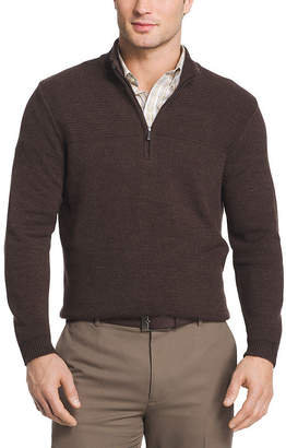 Van Heusen Textured Quarter Zip Sweater Long Sleeve Pullover Sweater