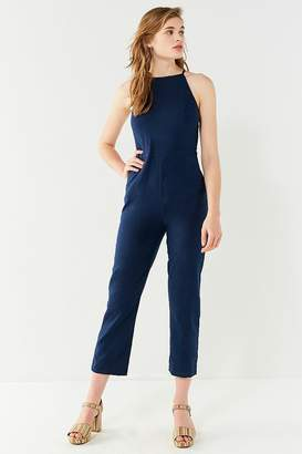 Urban Outfitters Hattie High-Neck Linen Jumpsuit