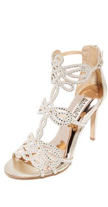Badgley Mischka Teri Sandals $265 thestylecure.com