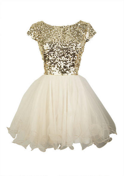 Delia's Cap Sleeve Sequin and Tulle Dress