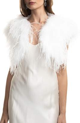BUBISH LUXE bubish Berlin Ostrich Feather Bolero