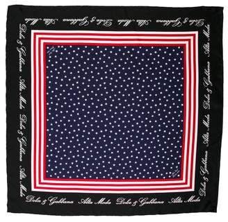 Dolce & Gabbana Silk Printed Scarf
