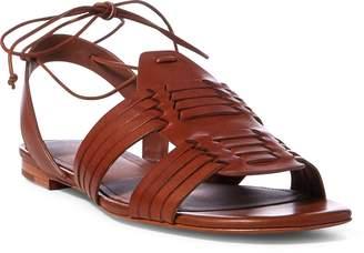 Ralph Lauren Jaida Vachetta Leather Sandal