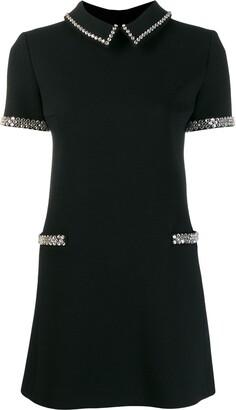Saint Laurent embellished short-sleeve dress